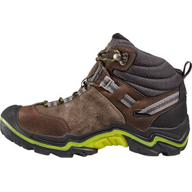 Keen Wanderer Mid WP Shoes Women Raven/Bright Chartreuse